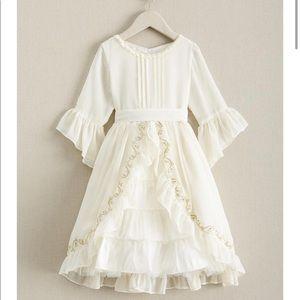 Chasing Fireflies Ladylike Chiffon Dress Ivory 7